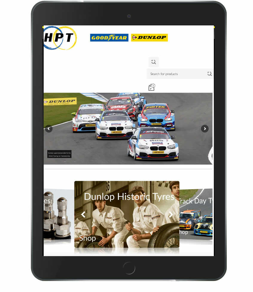 HP tyres - Sponsor of Calum Lockie Racing and Driver Coach