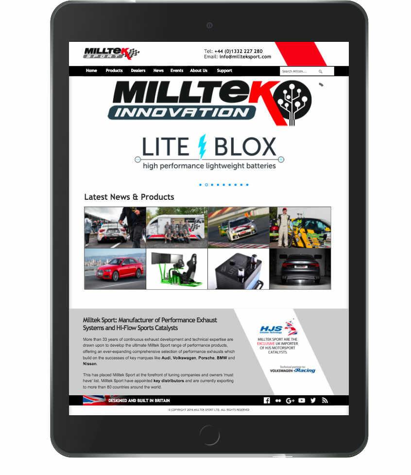 MILLTEK INNOVATION - Calum Lockie Racing Sponsor