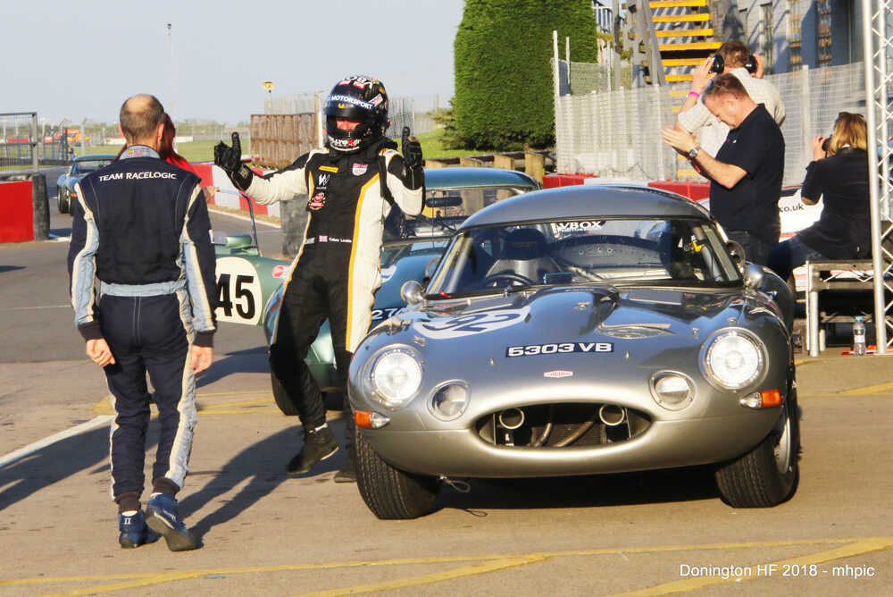 Donington Historic Festival Classic ChallengeDriving In A Low Drag Light Weight Jaguar E Type - Calum Lockie